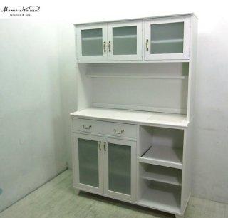 ■ Momo natural モモ ナチュラル LAND シリーズ キッチンボード 食器棚 ホワイト パイン材