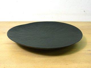 ● 三谷龍二 黒拭き漆7寸皿/パン皿 A