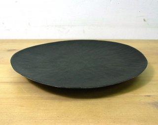 ● 三谷龍二 黒拭き漆7寸皿/パン皿 C