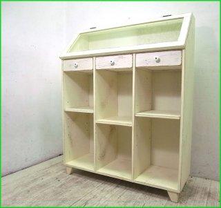 ■ KINO シャビーシック ガラスディスプレイ&Low Book Shelf  ブックシェルフ