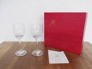 ◇マイセンクリスタル フラワー ペアワイングラス 未使用 箱付