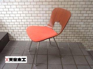 ■天童木工 Tendo 柳宗理 プライシェルチェア レッド