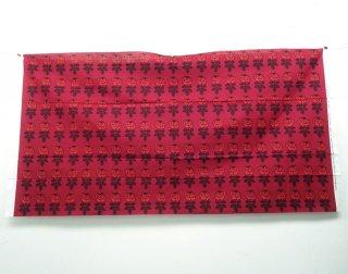 """●マリメッコ/marimekko  ファブリック """"VIHKIRUUSU"""" 137×73cm 2011年X'mas限定 レッド"""