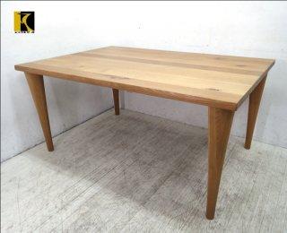 飛騨産業 佐々木敏光デザイン 森のことば ナラ無垢材 ダイニングテーブル ●