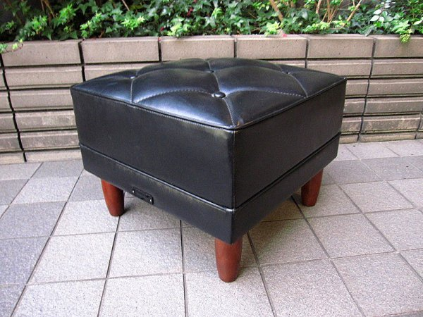 karimoku ( カリモク60 ) ★ 『 Kチェア ・ 2シーター ( 2P ソファ )  』 + 『 オットマン 』 セット ★ スタンダードブラック