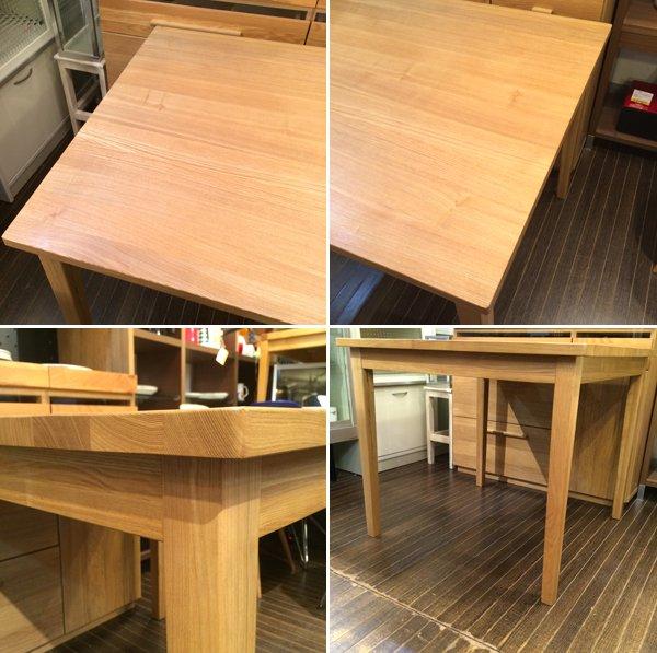 無印良品 MUJI タモ材 無垢材天板 ダイニングテーブル 幅85cm ◎