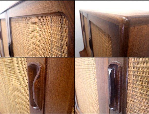 エベネゼル・グーム Ebenezer Gomme ジープラン G-plan フレスコ カップボード ラタンドア チーク材 食器棚 ■