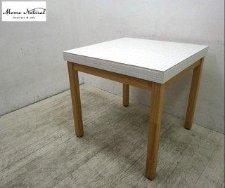 MOMOnatural / モモナチュラル モザイク タイルトップ ダイニングテーブル ■