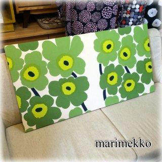 marimekko マリメッコ  UNIKKO ウニッコ グリーン ファブリック パネル ◎