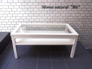モモナチュラル CIELE Bit ガラスセンターテーブル シエルシリーズ パイン材 Momonatural ■