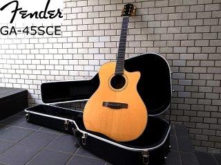 美品 Fender フェンダー GA-45SCE NAT アコースティックギター エレアコ yui HC付 ■