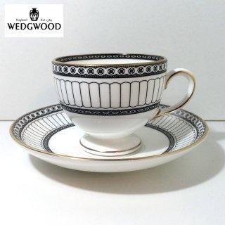 ウェッジウッド WEDGWOOD コロネード ブラック カップ & ソーサー ◎