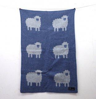 """KLIPPAN / クリッパン """"sheep"""" ウールブランケット 67×100cm 廃番羊柄 ●"""