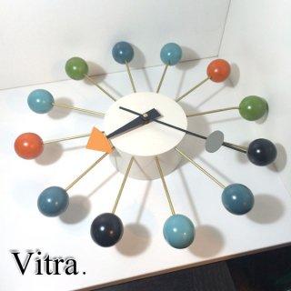 ヴィトラ社 Vitra. ボールクロック Ball Clock マルチカラー ジョージネルソン George Nelson 保証書付 ◎