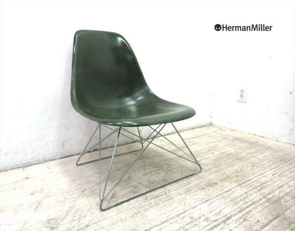ハーマンミラー Herman Miller 2nd 後期 サイドシェルチェア キャッツクレイドル オリーブグリーン ●