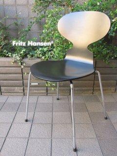 デンマーク Fritz Hansen / フリッツ・ハンセン ★ Arne Jacobsen / アルネ・ヤコブセンデザイン ★ 『 Ant Chair / アントチェア ( Black ) 』