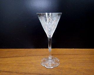 オールドバカラ / Baccarat エルベフ / ELBEUF ビンテージワイングラス H17cm マーク有 ●