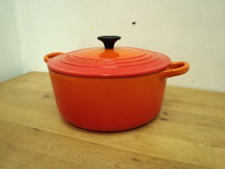 LeCreuset ル・クルーゼ ジャポン  ココットロンド22cm オレンジ ●