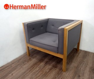 U.S.A HermanMiller / ハーマンミラー ★ 往年の名作 ・ 廃番希少 ★ 『 ネルソンキューブ グループシーティング ラウンジアームチェア ( グレー ) 』