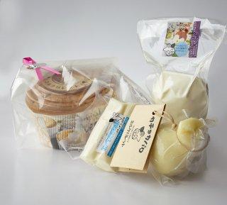 ナチュラルチーズとミルクシフォンケーキ
