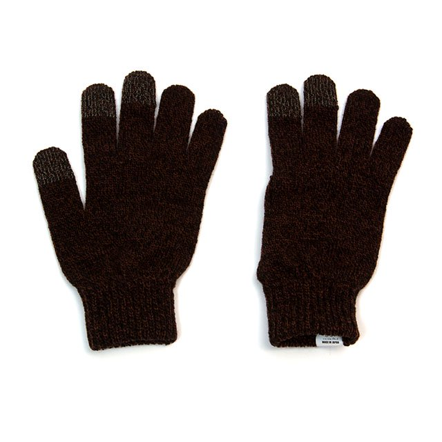 [G-30] TOUCH SCREEN NIT GLOVE / BROWN
