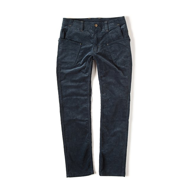 [GSP-14] CORDUROY WORK PANTS / STEEL BLUE