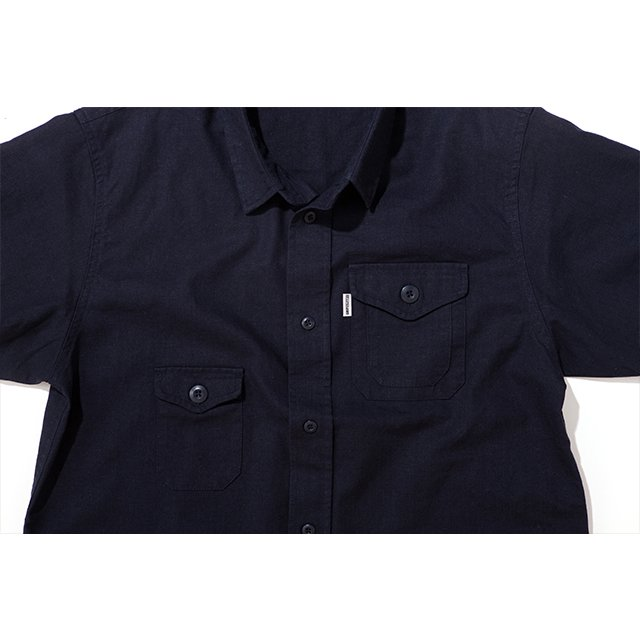 [GSS-24] HEMP WORK SHIRT / NAVY