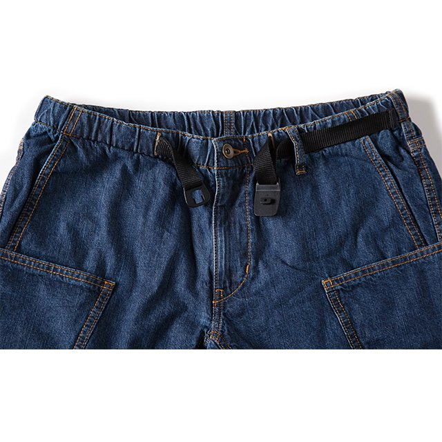 [GSP-51] DENIM CAMP SHORTS / INDIGO