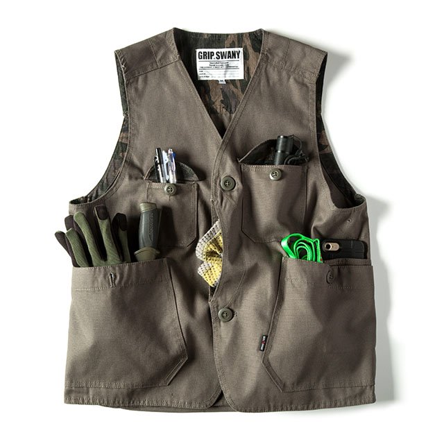<img class='new_mark_img1' src='//img.shop-pro.jp/img/new/icons1.gif' style='border:none;display:inline;margin:0px;padding:0px;width:auto;' />[GSV-02] FIREPROOF WORK VEST / DARK OLIVE