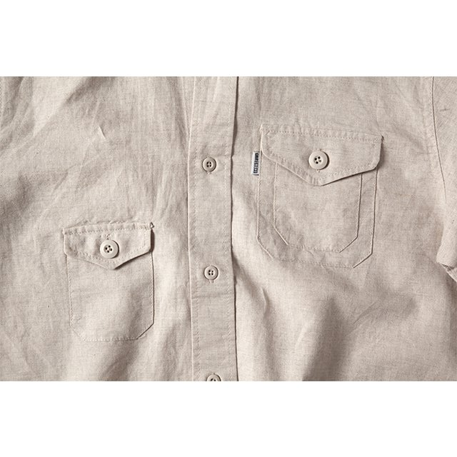 [GSS-25] HEMP CAMP SHIRT / NATURAL