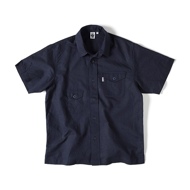 [GSS-25] HEMP CAMP SHIRT / DARK NAVY