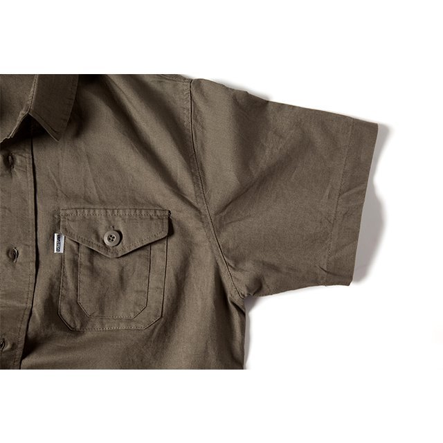 [GSS-25] HEMP CAMP SHIRT / KHAKI