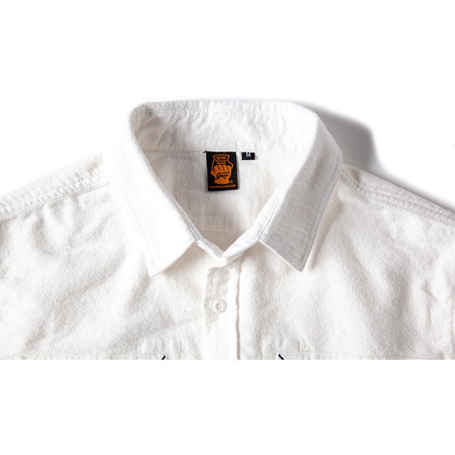 [GSS-26] FLANNEL CAMP SHIRT / WHITE