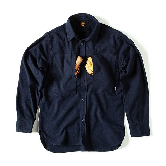 [GSS-26] FLANNEL CAMP SHIRT / NAVY