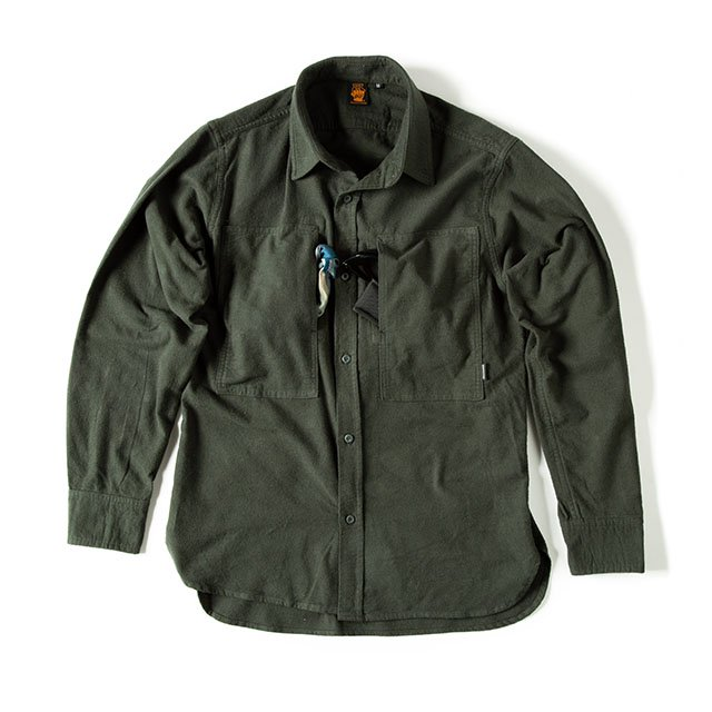 <img class='new_mark_img1' src='https://img.shop-pro.jp/img/new/icons5.gif' style='border:none;display:inline;margin:0px;padding:0px;width:auto;' />[GSS-26] FLANNEL CAMP SHIRT / OLIVE