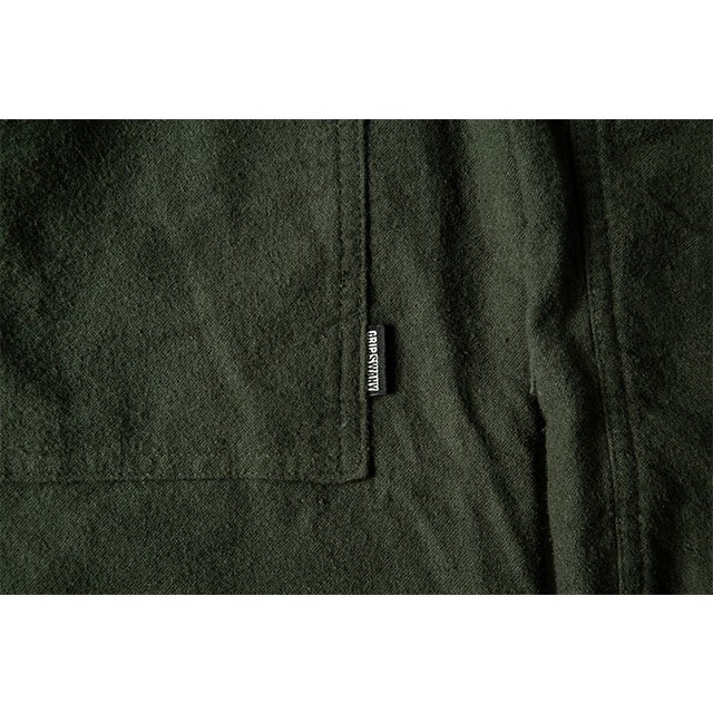 [GSS-26] FLANNEL CAMP SHIRT / OLIVE