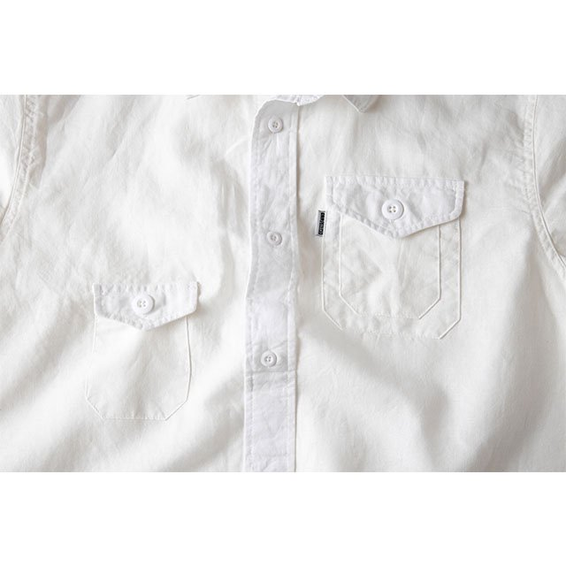 [GSS-25] HEMP CAMP SHIRT / WHITE