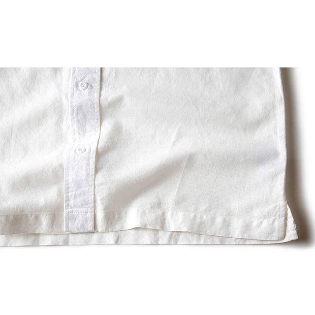[GSS-25] HEMP CAMP SHIRT / WHITE