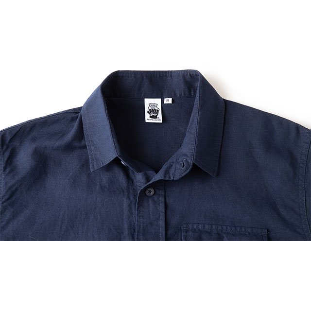 [GSS-25] HEMP CAMP SHIRT / NAVY