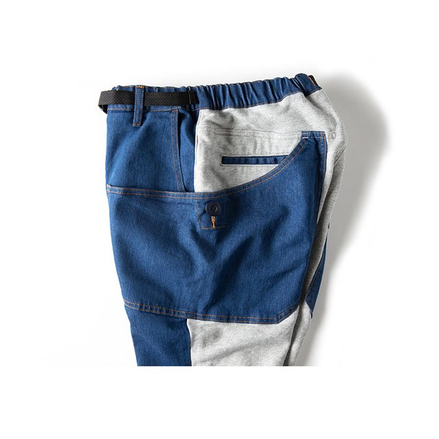[GSP-60] UNION CAMP PANTS / INDIGO×GRAY