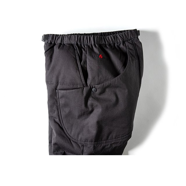 [GSP-56] FIREPROOF DOWN CAMP PANTS / CHARCOAL BLACK