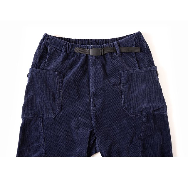 [GSP-63] JOG 3D CORDUROY WIDE CAMP PANTS / NAVY