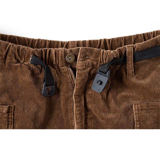 [GSP-63] JOG 3D CORDUROY WIDE CAMP PANTS / WALNUTS
