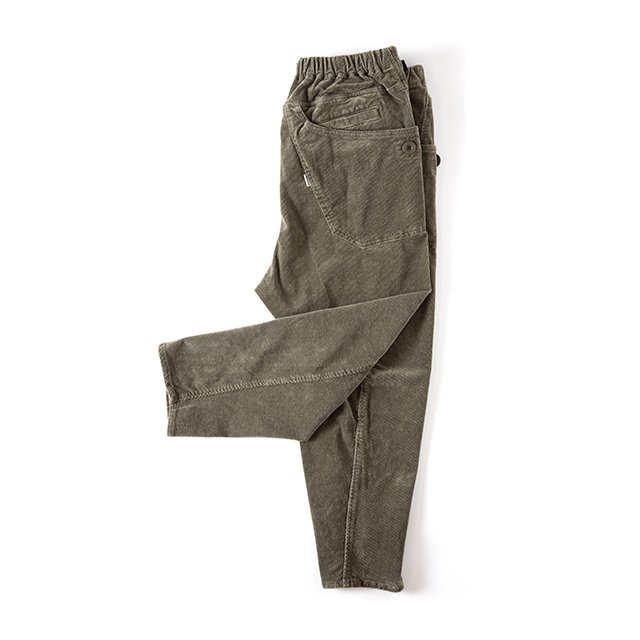 [GSP-63] JOG 3D CORDUROY WIDE CAMP PANTS / OLIVE