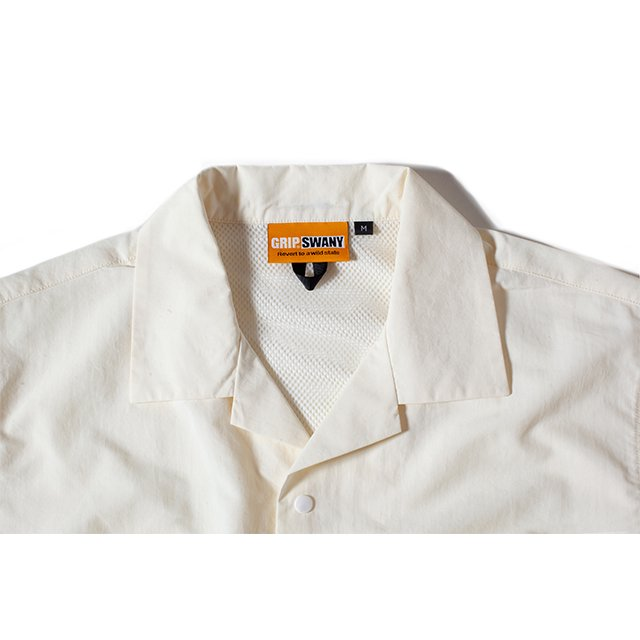 [GSS-30] SUPPLEX CAMP SHIRT / WHITE