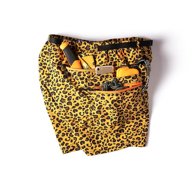 [AT20-037] GRIP SWANY x atmos GEAR SHORTS / LEOPARD