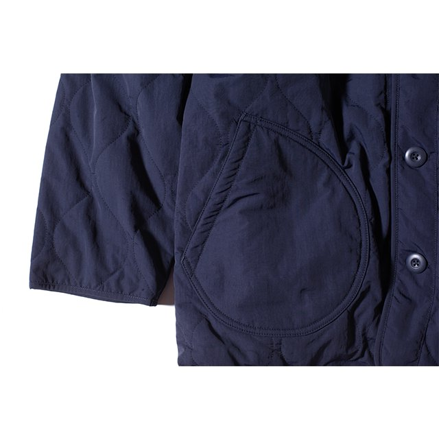 [GSJ-57] QUILT CAMP GOWN / NAVY