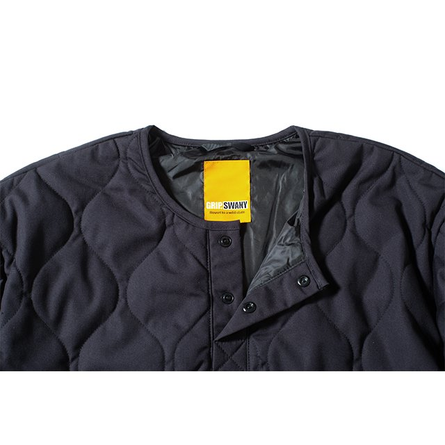[GSJ-58] FIREPROOF QUILT PULLOVER / BLACK