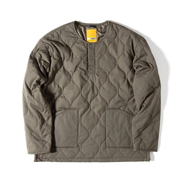 [GSJ-58] FIREPROOF QUILT PULLOVER / OLIVE