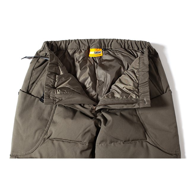[GSP-67] FIREPROOF DOWN CAMP PANTS 2.0 WITH MOBILE POCKET / OLIVE